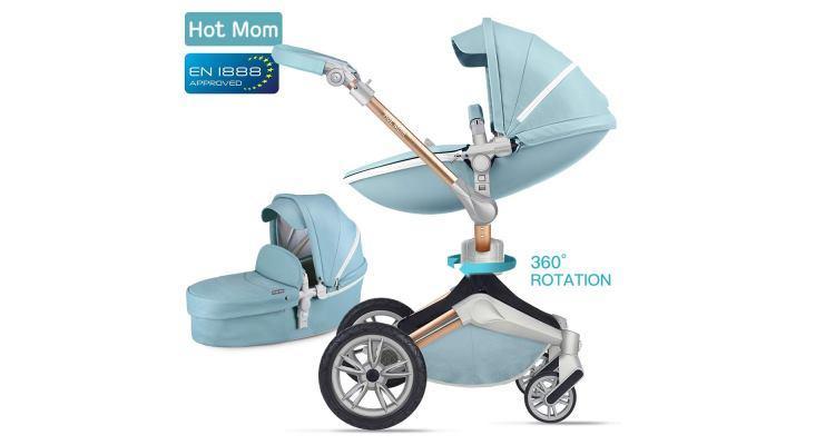 Hot Mom Kombikinderwagen 3 in 1 mit Buggy und Babywanne