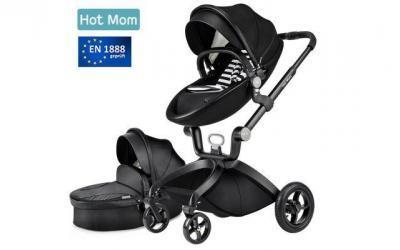 Hot Mom Limited Edition Kombikinderwagen mit Buggyaufsatz und Babywanne